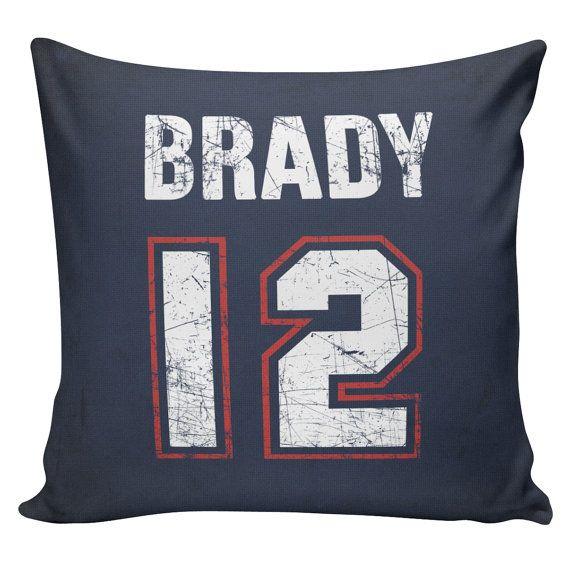 Personalized Football Pillow Cover - 100% cotton front, cotton or burlap back Vintage Sports Theme Man Cave  Boys Room Decor Stub24 #S20064