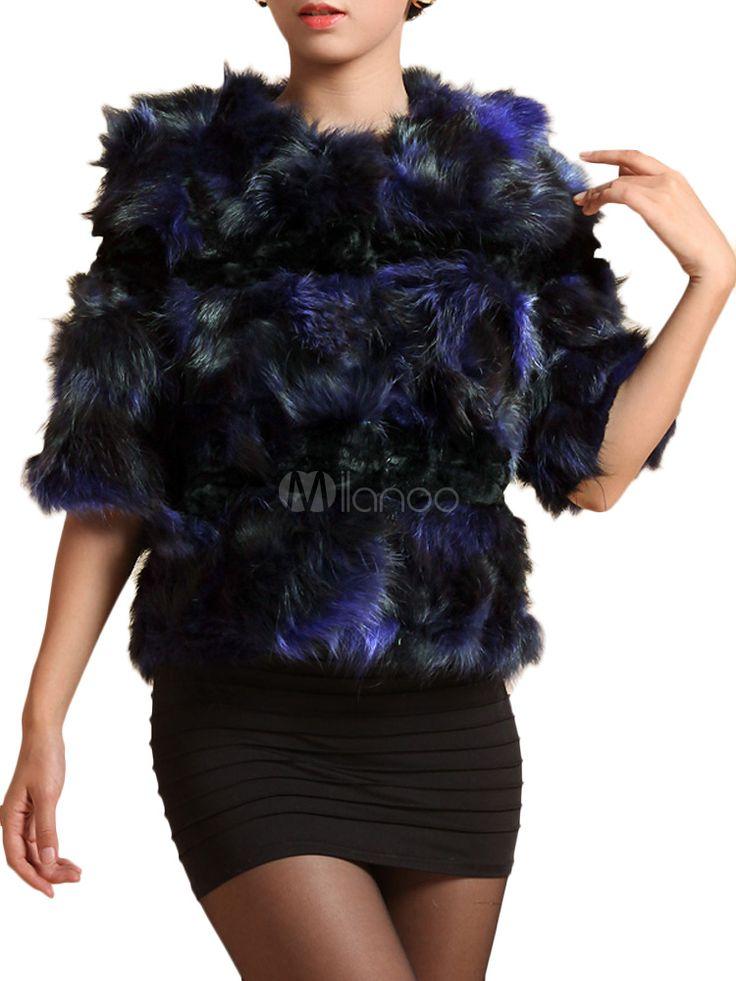 Pelliccia elegante lussuosa in pelle con maniche - Milanoo.com