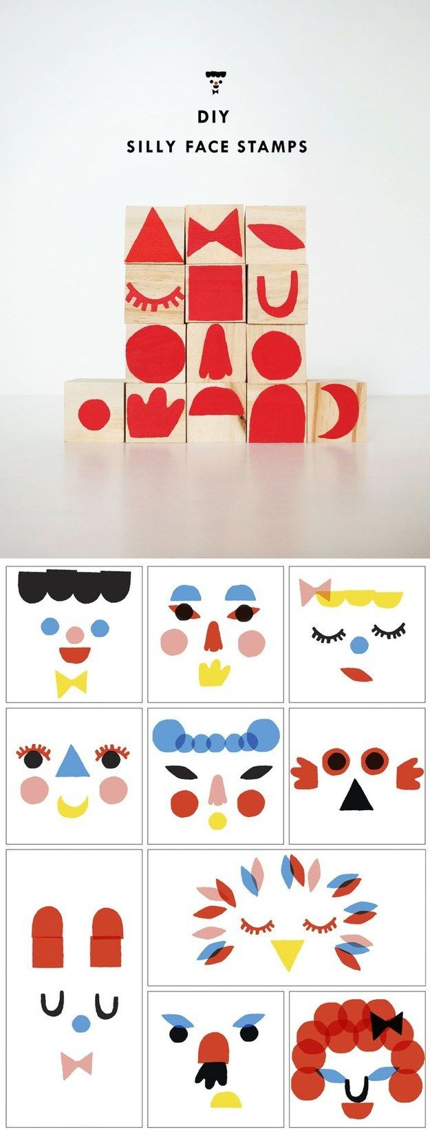 Criar a arte mais lunático que nunca com estes selos cara boba. | The 42 Definitively Cutest DIY Projects Of All Time