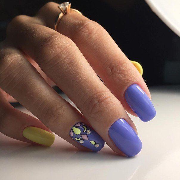 Beach nails, Beautiful nails 2016, Cheerful nails, Everyday nails, Original nails, Stylish nails, Summer nail art, Summer shellac 2017
