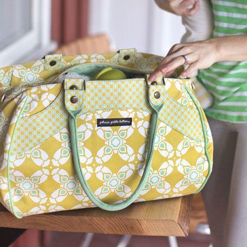 NEW! Petunia Pickle Bottom Citron Blooms Wistful Weekender from @PoshTots #diaperbag #babygear #fashion