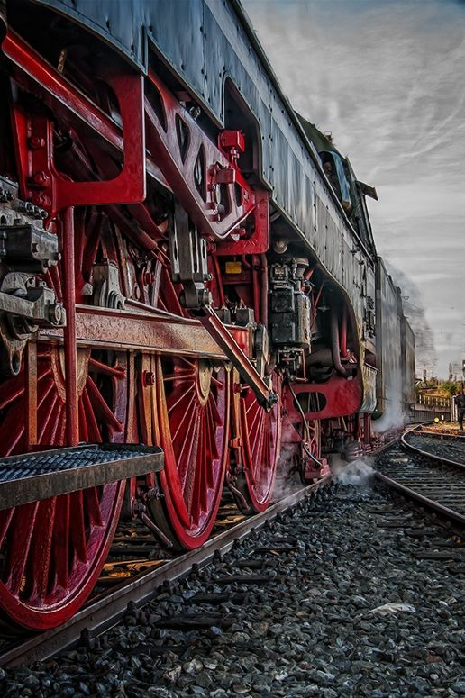 train engine. via mostly peculiar. Red wheels! As glorious as red shoes!
