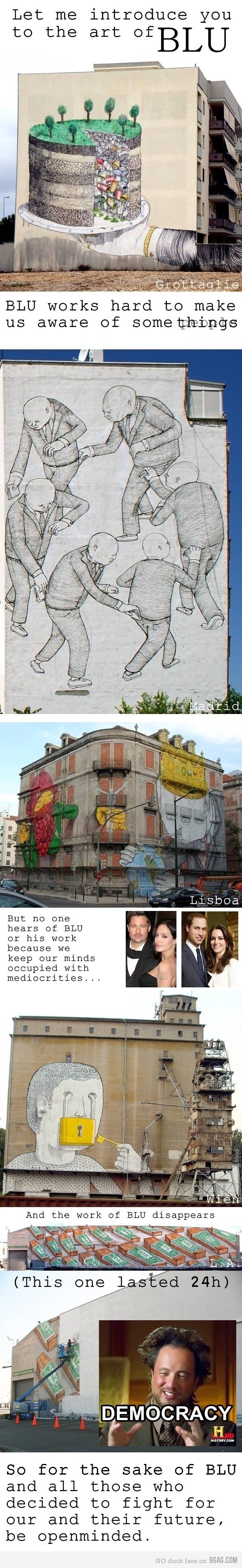 BLU grafitti