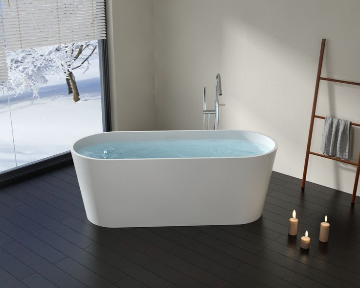 Shop Freestanding Bathtubs Made From Stone Resin Material These Tubs Help You Create Your Own Spa