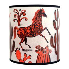 Wild West Horse Lampshades