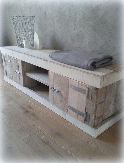 Steigerhouten tv meubel - Mooie handgemaakte meubelen!-De Houttwist