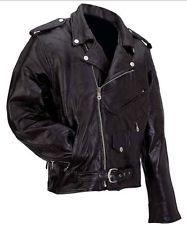 Αντρικά Black Rock γνήσιο Buffalo δέρμα μοτοσικλέτας σακάκι φερμουάρ-out Liner Mens