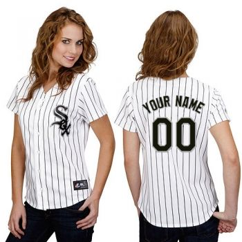 Womens Customized Chicago White Sox Home White Jersey Authentic Majestic