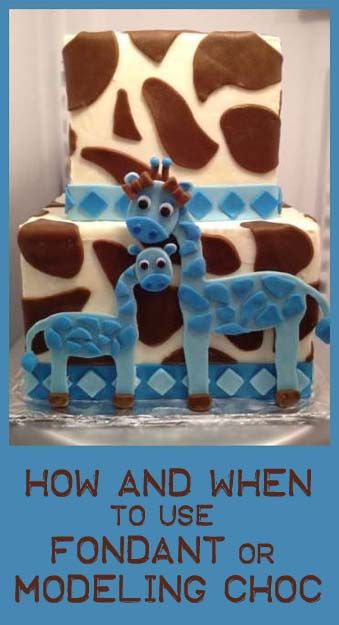 When and how to use fondant or modeling chocolate