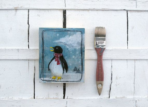Penguin illustration Kids painting  Polar by ariannapiazzafineart, $50.00