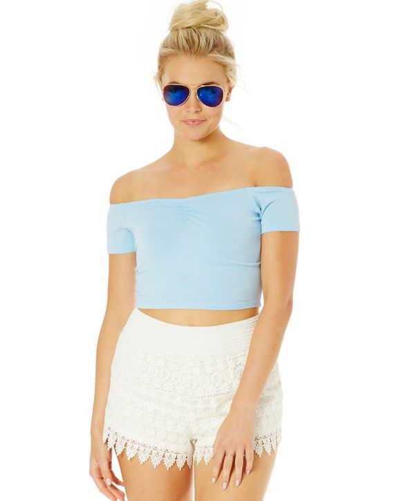 Off The Shoulder Crop