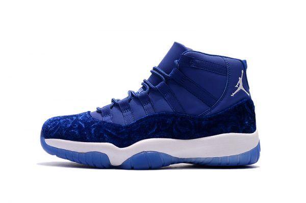 d076a1f63b14 Air Jordan 11 PRM Heiress Royal Blue Velvet For Sale