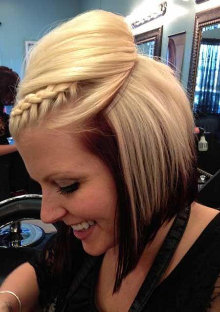 Wonderful and Fantastic Bob Hair with Wonderful Dark Brown Fringes and Nice Braid