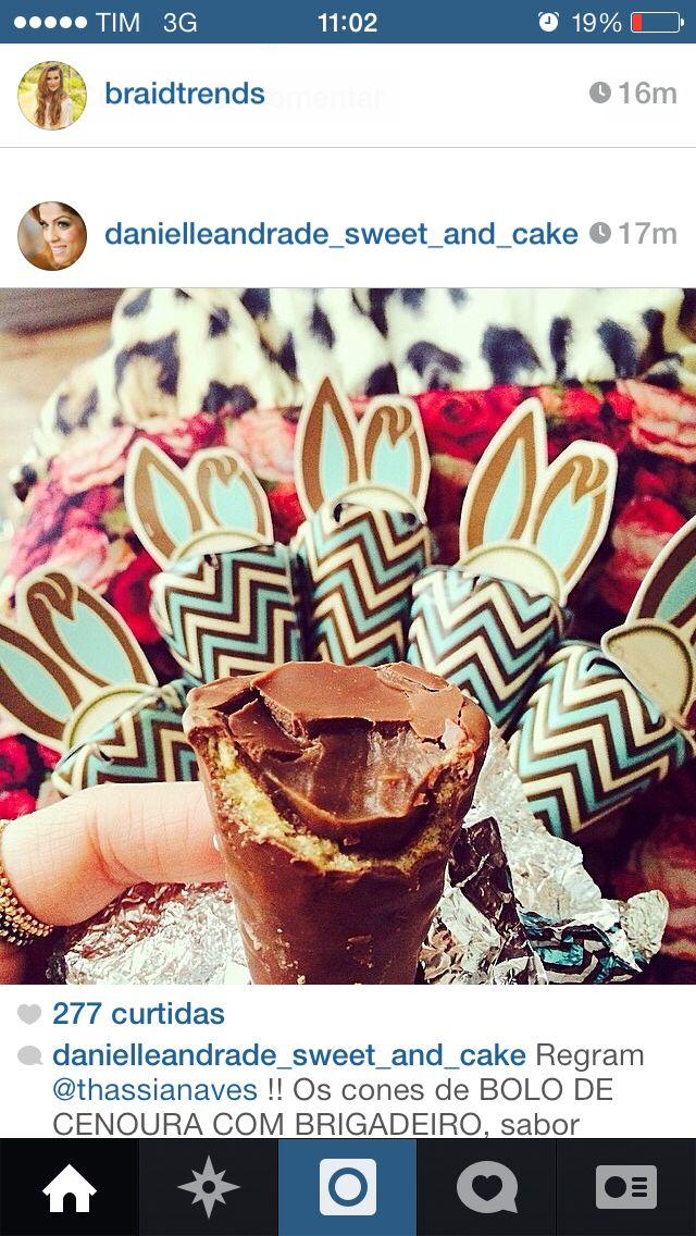 Cones chocolate