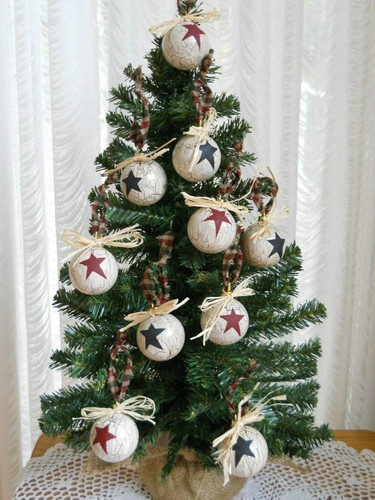 10 Primitive Country Christmas Ornaments | eBay