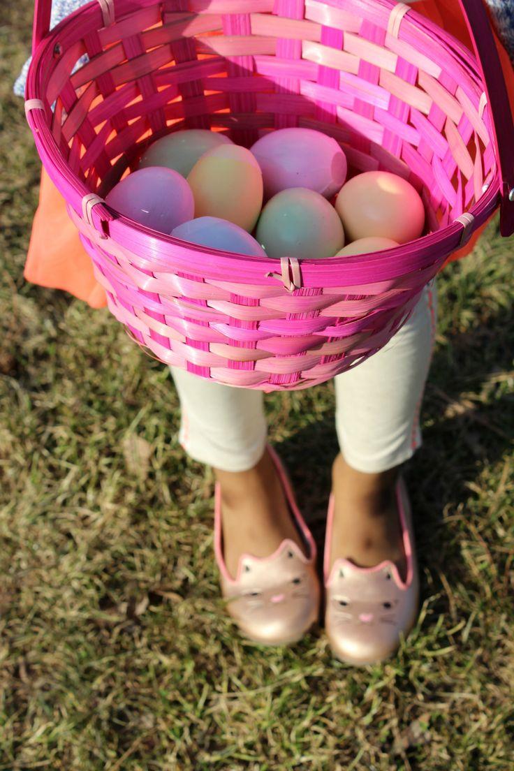 Girl's Easter Egg Hunt Outfit + $50 OshKosh Giveaway - Rattles & Heels