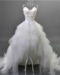 robe de mariee plume