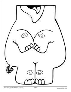 Elephant paper bag puppet pattern scholastic printables for Paper plate puppets templates