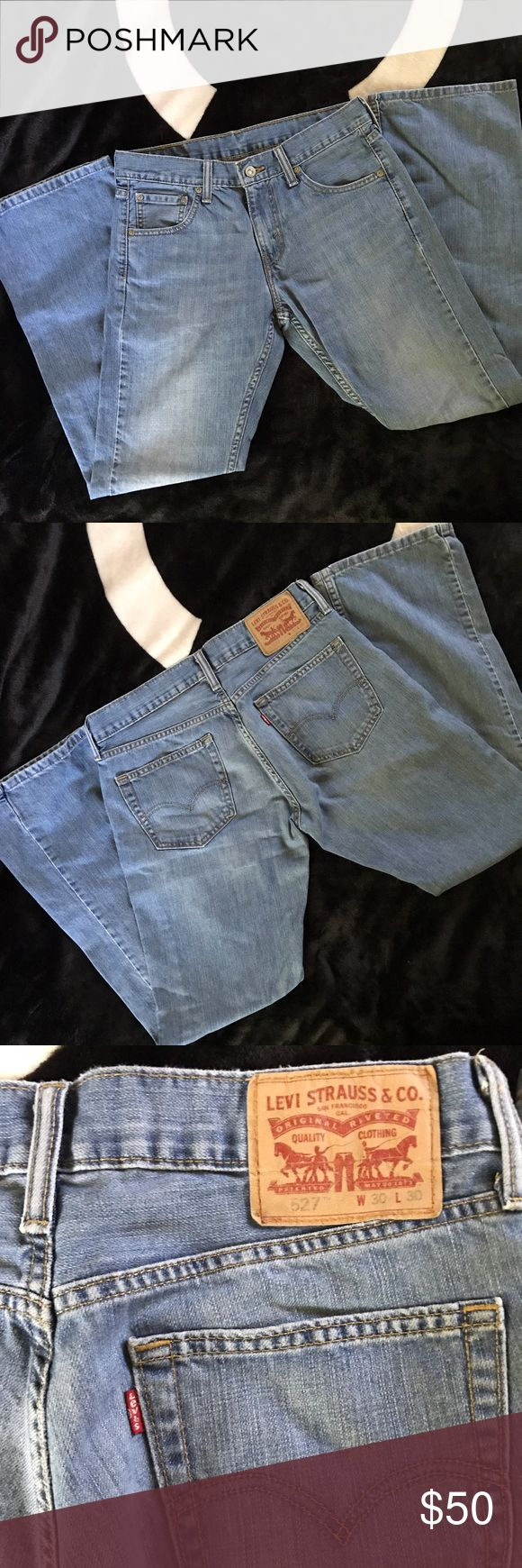 Levi Jeans 30 My fiancé bought these online and they didn't fit right so he gave them to me to sell here. Like new condition, worn only to try on. Levi Strauss jeans, 30W 30L. Tags: Levi's blue men's Levi's Jeans