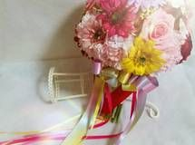 Ayさま☆星と赤いバラの虹色ラグジュアリーブーケ