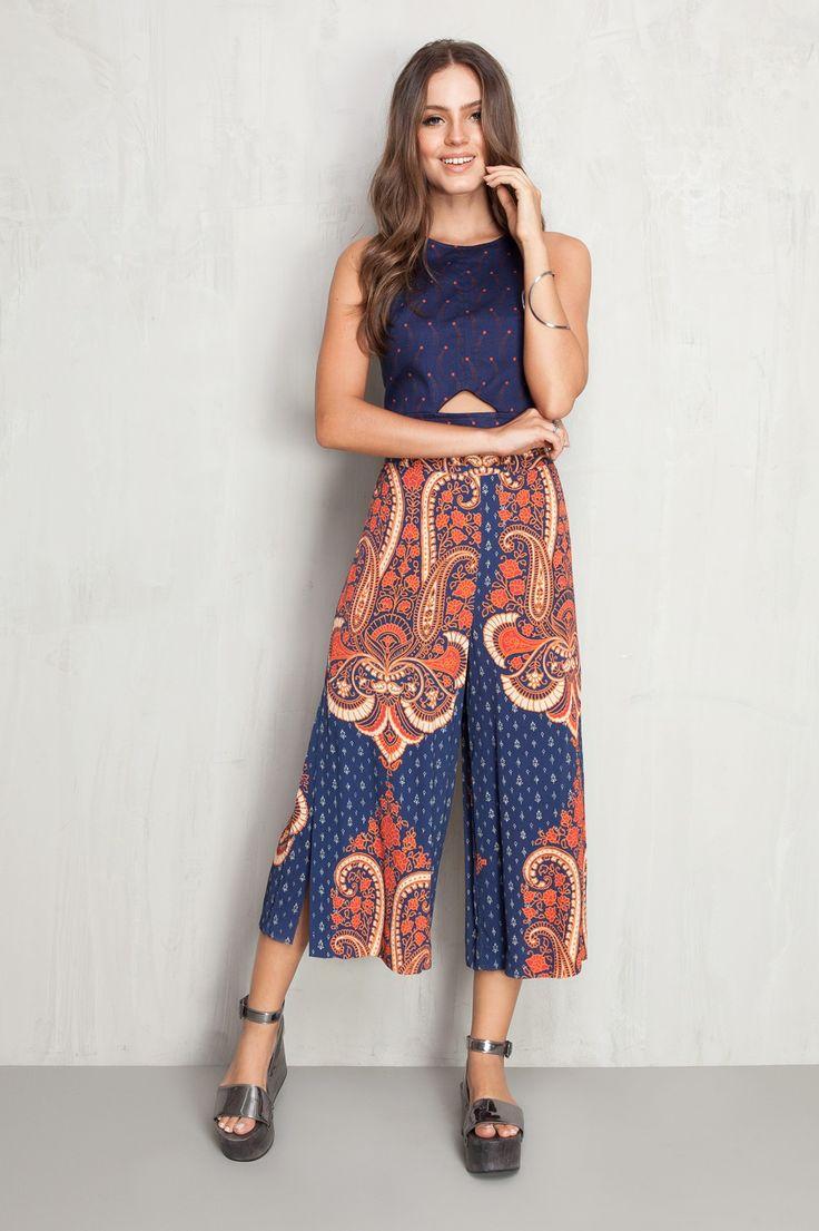 calça pantacourt fendão harmony | Dress to
