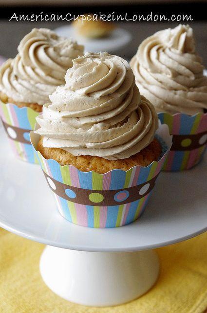 Vanilla Bean Latte Cupcakes by kellylovescupcakes, via Flickr