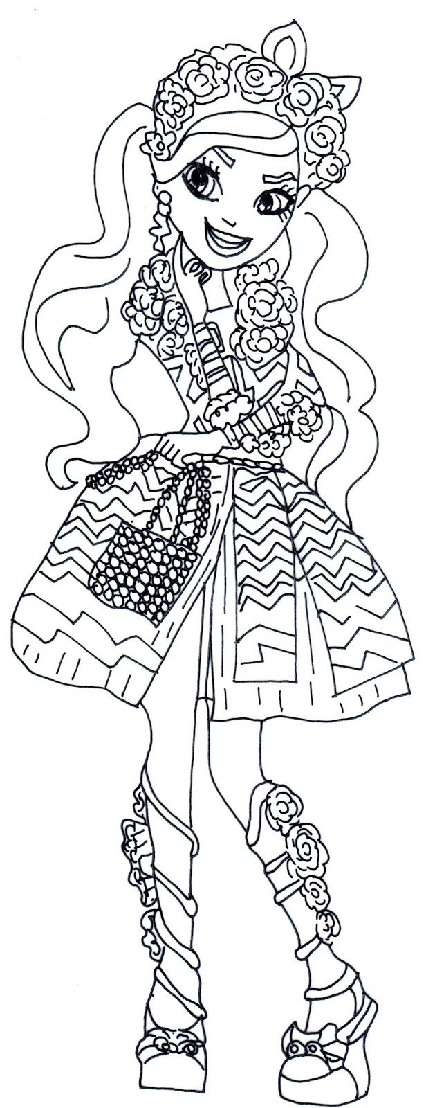 Spring Unsprung Kitty Chesire Ever After High Coloring Pages Printable And Book To Print For Free Find More Online Kids