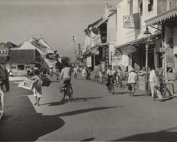 Straatbeeld, Semarang, Java, Indonesië (1933)