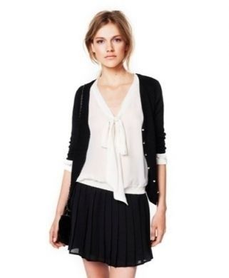 Zara - Camicetta bianca con gonna nera