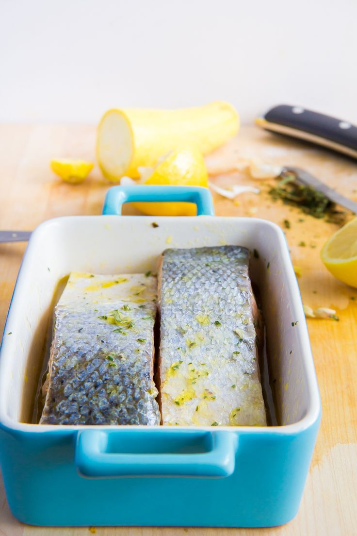 Slow baked salmon- lemon and chili oil