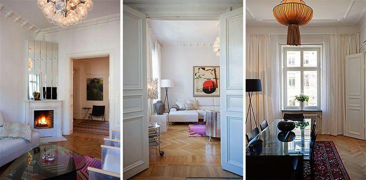 Квартира в Стокгольме 96 кв.м. нравится сочетание предметов разных стилей