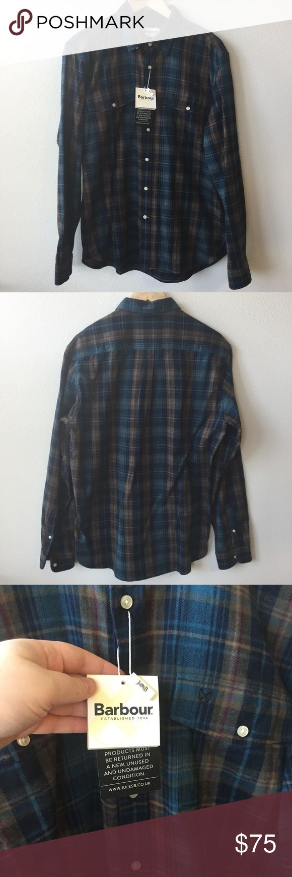 NEW Barbour Mens Button Down Authentic Barbour Button Down Shirt 🔹Size: Medium 🔹Chest pockets with button closure 🔹Plaid print 🔹Subtle Barbour logo on left chest pocket 🔹Medium-weight, will keep you warm without overheating! 💎NEW WITH TAG! No flaws. Barbour Shirts Casual Button Down Shirts