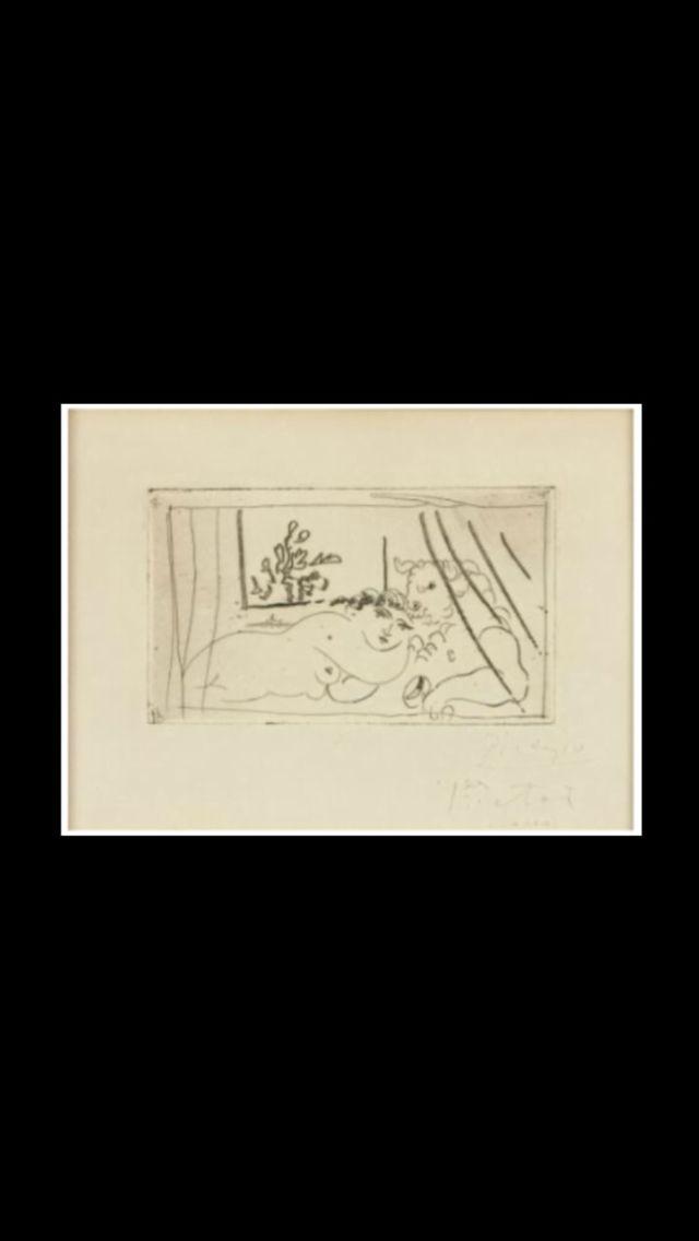 """Pablo Picasso -"""" Femme allongée avec un minotaure  """", 1936 ? - Eau-forte 1er état - 15 x 21 cm - Collection particulière (..)"""