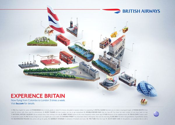 British Airways - Experience Britain by Peter Jaworowski, via Behance