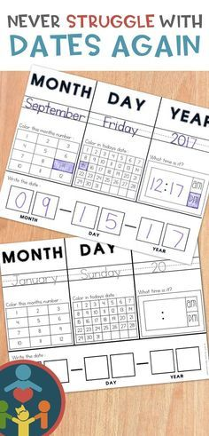 Simple way to teach the concepts of date formatting for primary grades. LOVE!