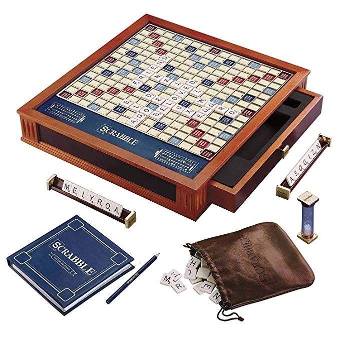 Scrabble Luxury Edition Board Game In 2020 Games Board Games