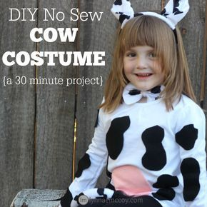 Making this no sew cow costume is easy - it takes only 30 minutes and less than $20. It's a great alternative to generic, store bought costumes!