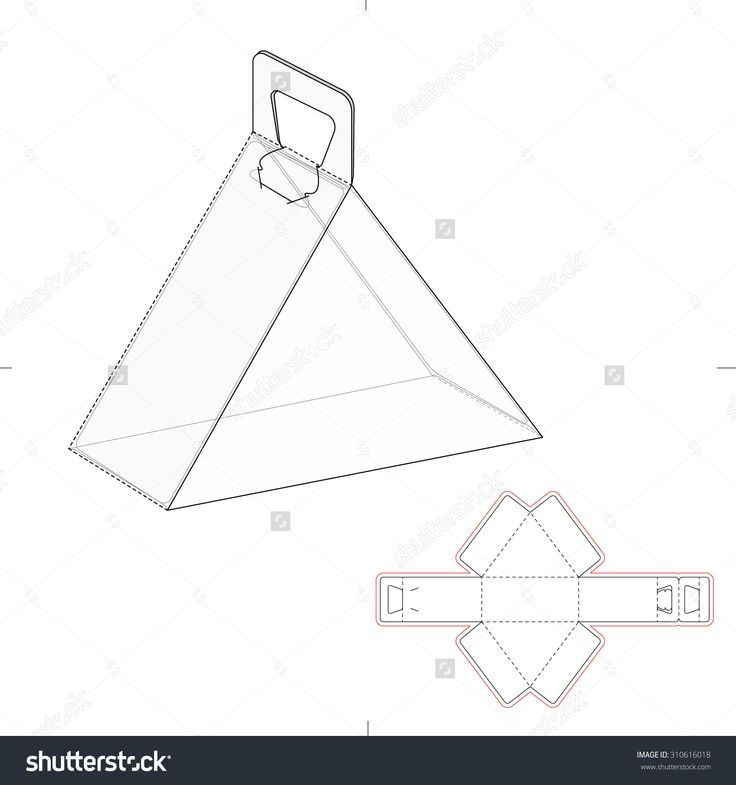 image result for template square box fold with pop up lid neat