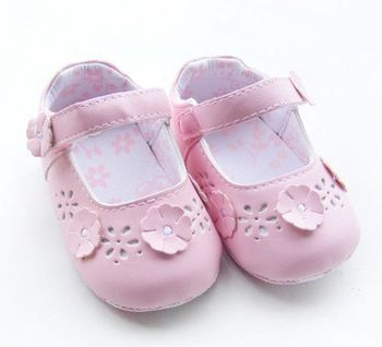 Barnskor - Girls Leather Lovely Baby Prewalker Baby Leather shoes Infant shoes toddler shoes baby first walker Little Spring baby wear - Hos www.shoelovers.se