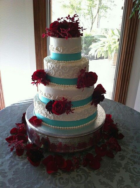 aqua blue and red wedding cakes 78 ideas about aqua wedding cakes on 10805