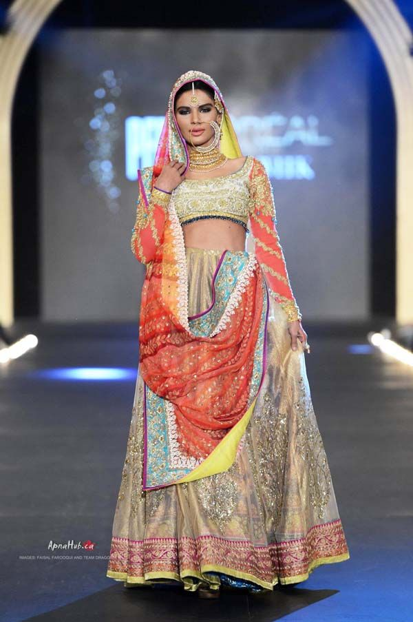 PFDC L'Oreal Bridal Fashion Week 2013 – Nomi Ansari Pakistani bridal couture.   Pakistani bride