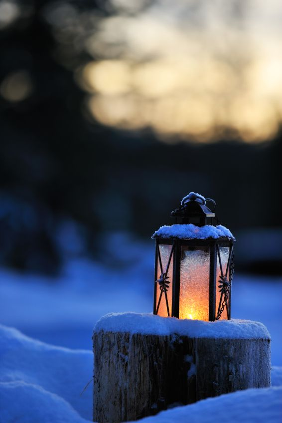 Winter Lantern | Magical Spaces in 2019 | Winter light ...