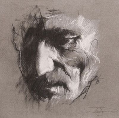 conte and chalk on paper Guy Denning