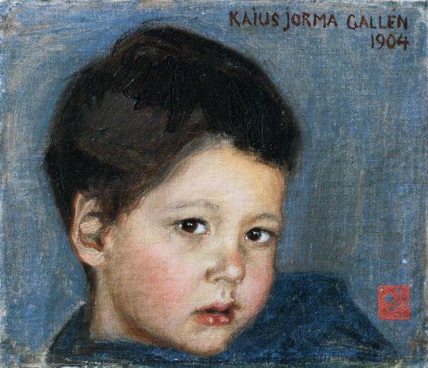 AKSELI GALLEN-KALLELA  Portrait of Kaius Jorma Gallén (1904)