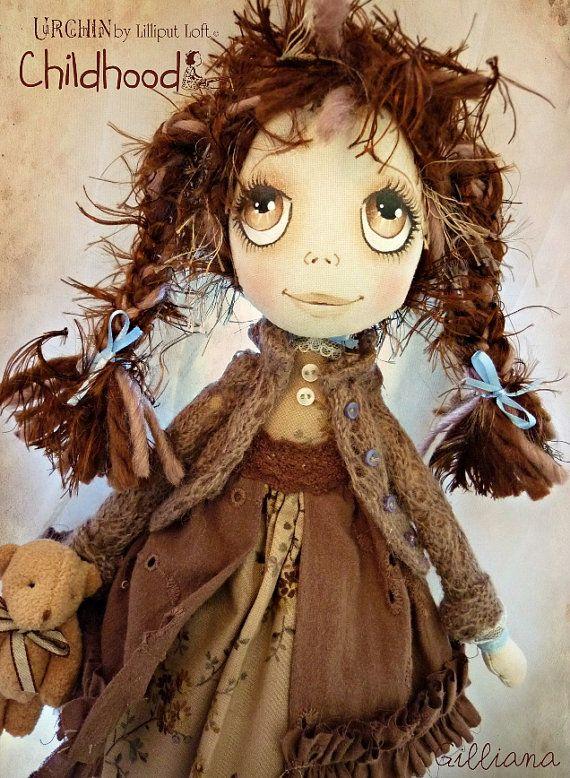 OOAK Art Doll Urchin Gilliana by lilliputloft on Etsy