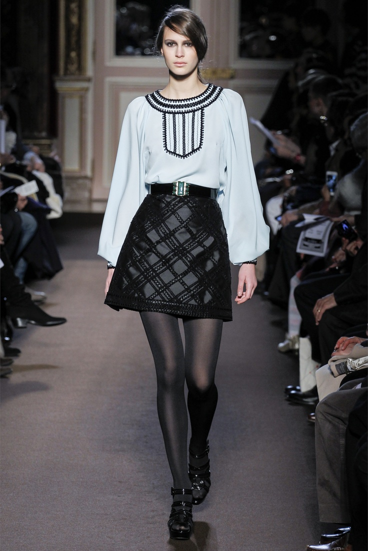 Fall winter 2013 fashion trends for women - Plaid Andrew Gn Fall 2013 Ready To Wear Collection