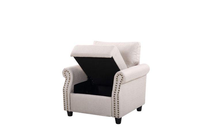Arthur Classic Linen Storage Chair