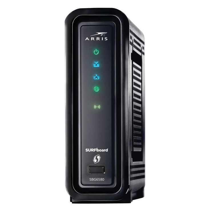Arris SURFboard 8X Cable Modem with WiFi N600 Router - Black (SBG6580)