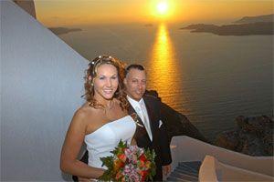 Santorini weddings, Santorini Greece wedding planers