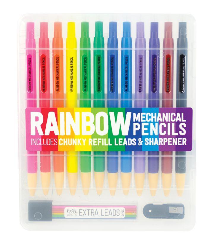 International Arrivals - Rainbow Mechanical Colored Pencils, $9.95 (http://www.intlarrivals.com/rainbow-mechanical-colored-pencils/)